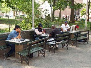 Schaken in Washington Square Park