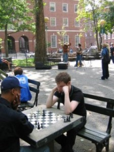 Schakern in Washington Square Park